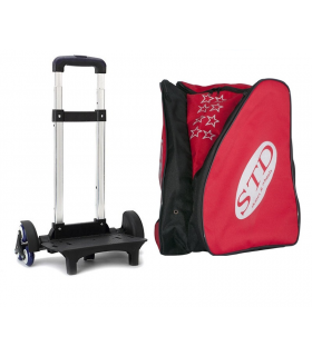 BACKPACK WITH 6-WHEEL TROLLEY STD SKATES