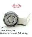 STD SKATES 627 5 BALLS CERAMIC BEARINGS ABEC 7