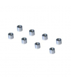 8 ALUMINUM BEARING SPACERS Ø 7MM / 8MM