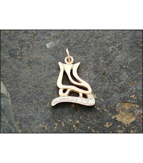 JEWELRY-STERLING SILVER ICE SKATE (HOLLOW)